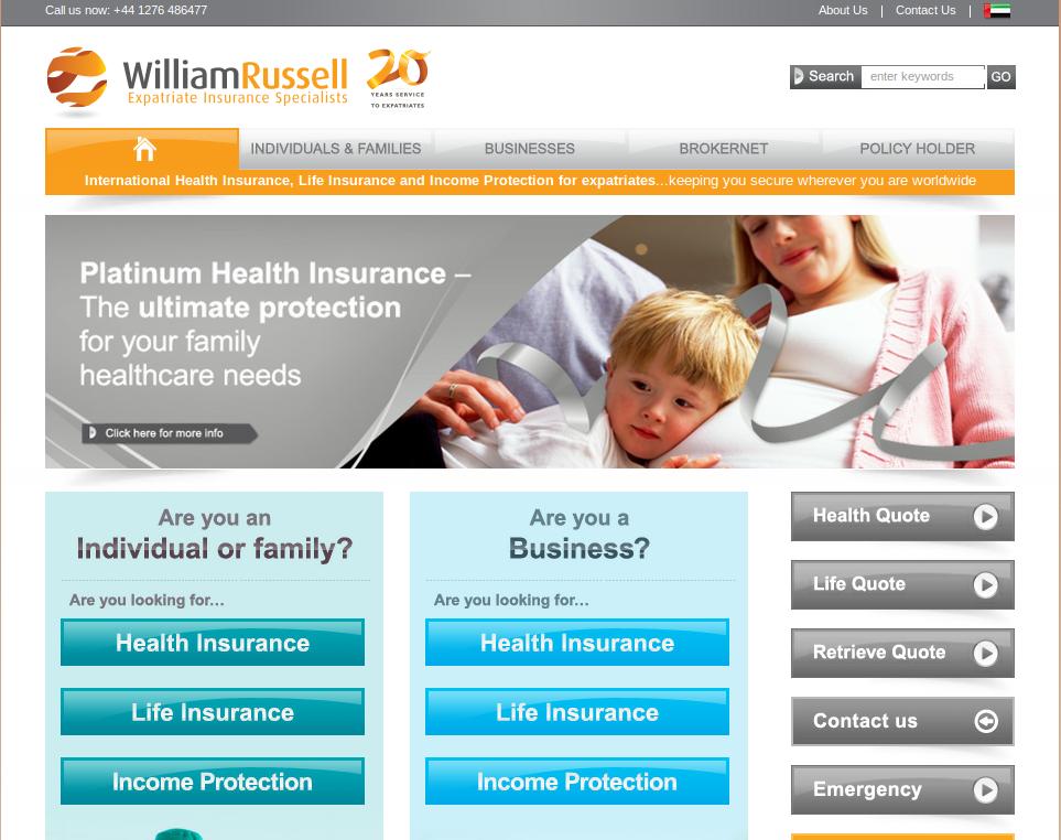 Expat insurers new website