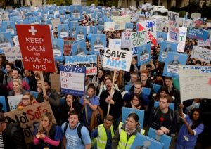 Junior doctors unite to protest under funding of the health service